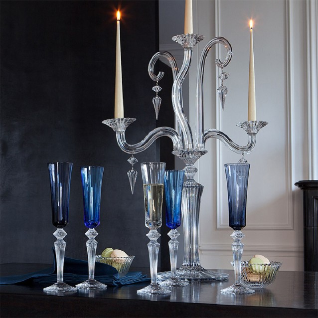 Pahar pentru sampanie, blue, Mille Nuits - BACCARAT