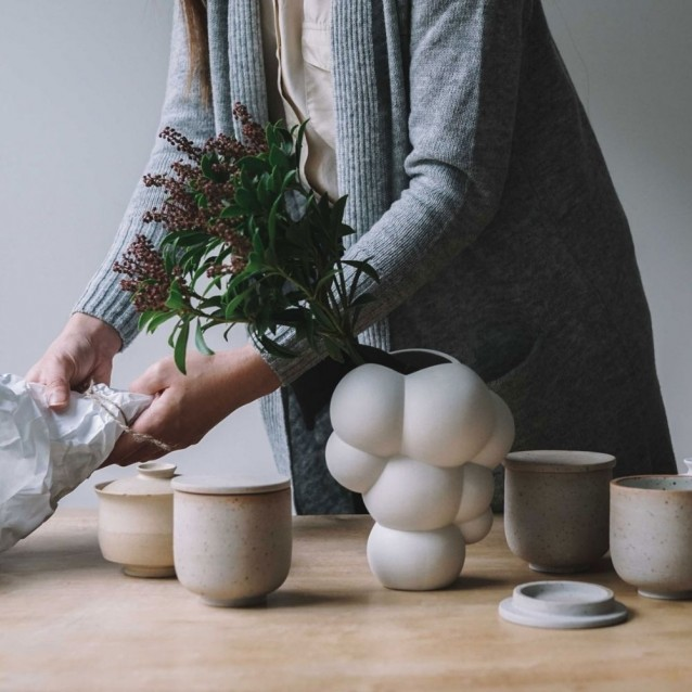 Vaza alba din portelan, 26 cm, Skum White - ROSENTHAL