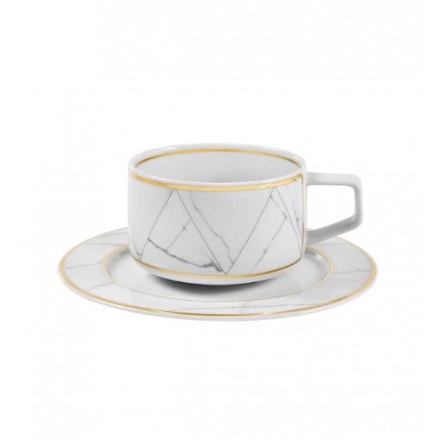Ceasca pentru ceai si farfurie, Carrara - VISTA ALEGRE
